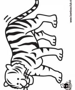 tijger wnf bamboeclub dieren kleurplaten print een