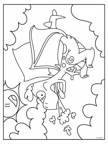 Vliegende Draak 2 Draak Dieren Kleurplaten Print
