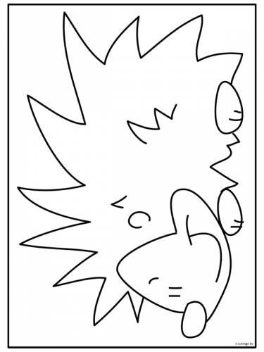 egel egel dieren kleurplaten print een mooie