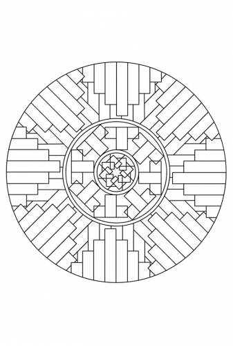 Vingers Mandala Geo Mandala Mandala Kleurplaten