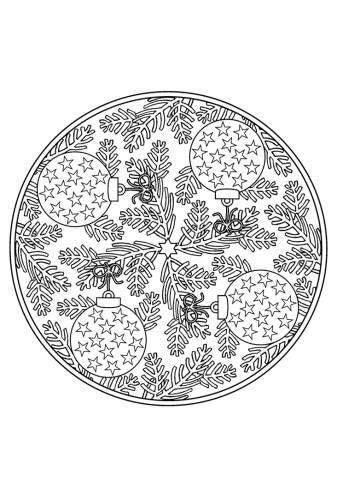 Kerstballen Mandala Kerst Mandala Mandala