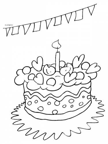 Kleurplaten Verjaardag Mama 41 Jaar Taart Verjaardag Themas Kleurplaten Print Een