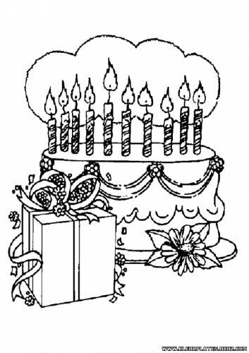 kadootjes en een taart voor een kinder verjaardag