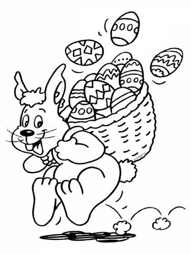 paashaas met gekleurde eieren pasen themas